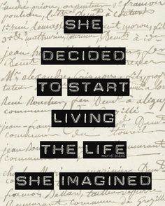 The Life She Imagined.